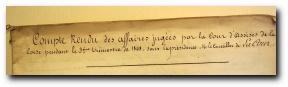 1851, Cour d'assises de Bastia, affaire Lilla Lanfranchi
